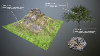 Free Mountain Terrain game asset for unity 3d