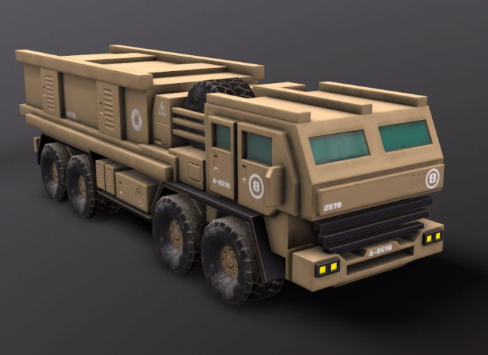free military_heavy_transport_vehicle game asset for unity 3