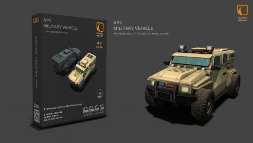 Free 3d Military Vehicle Game Asset